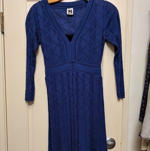 M Missoni crochet wool dress